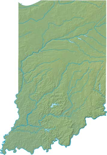 Indiana relief map
